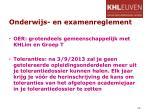 onderwijs en examenreglement