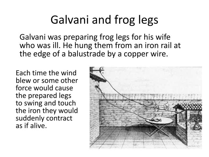 Galvani and frog legs