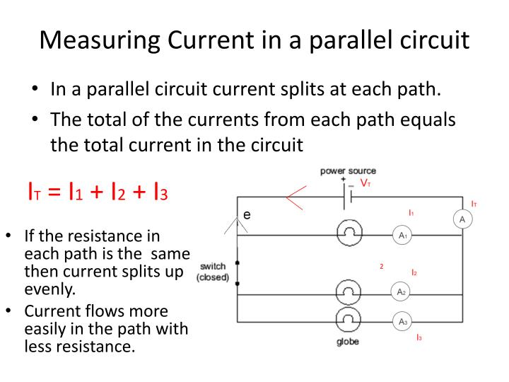 Measuring Current in a parallel circuit