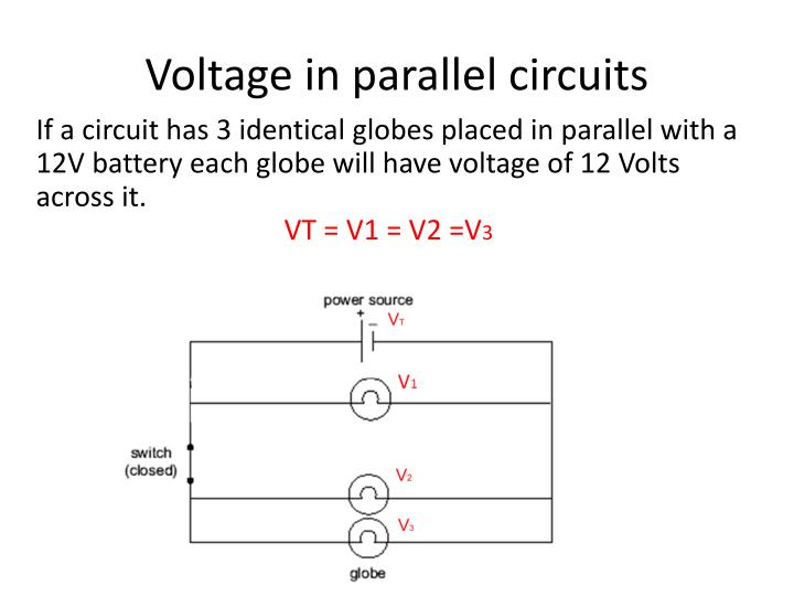 Voltage in parallel circuits
