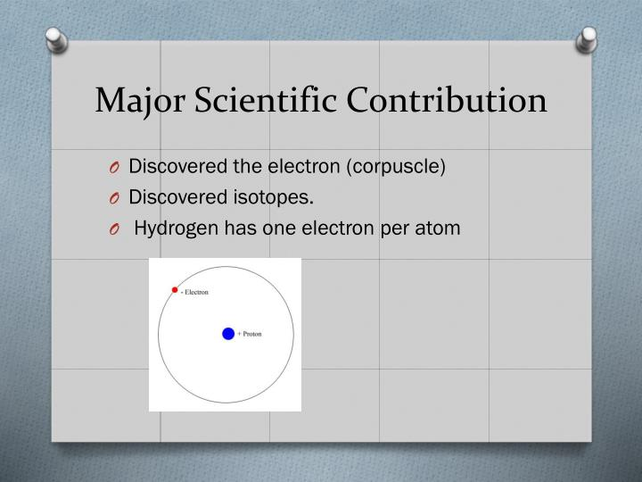 Major Scientific Contribution
