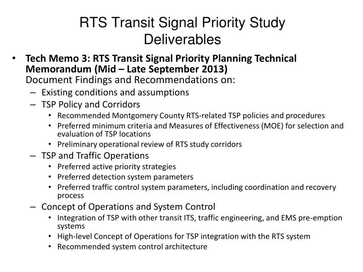 RTS Transit Signal Priority Study