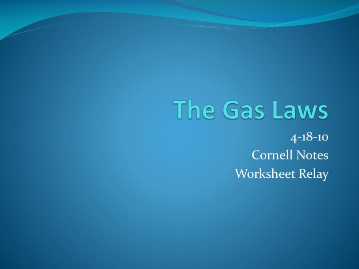 PPT - The Gas Laws PowerPoint Presentation - ID:2843036