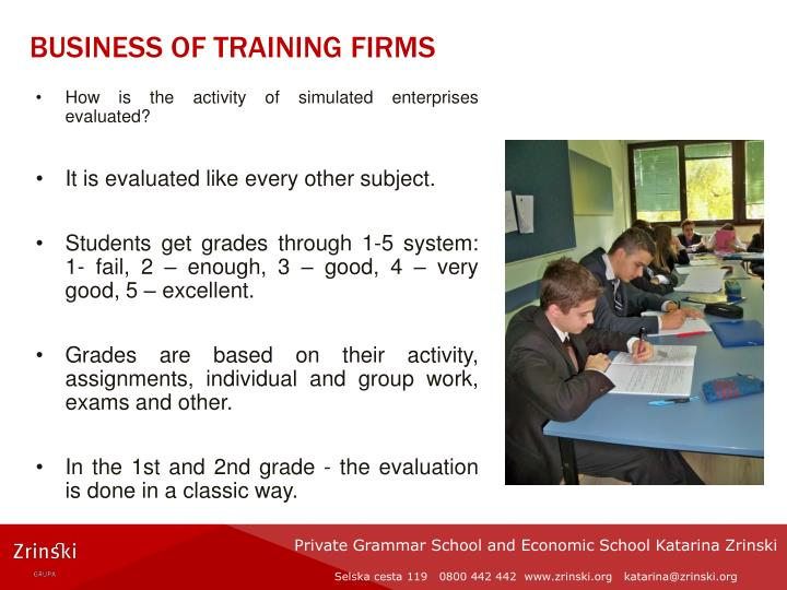 BUSINESS OF TRAINING FIRMS