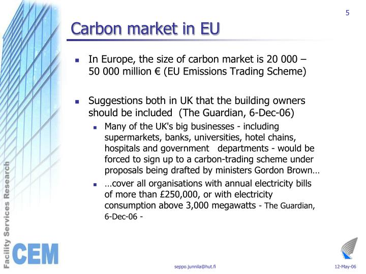 Carbon market in EU