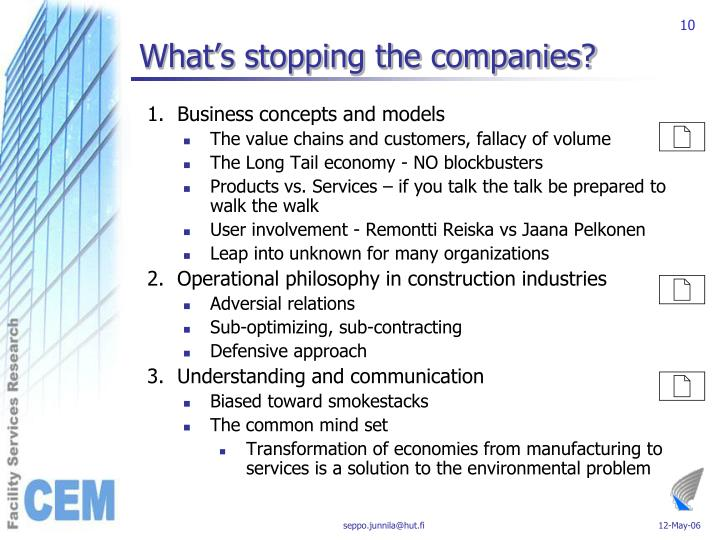 What's stopping the companies?