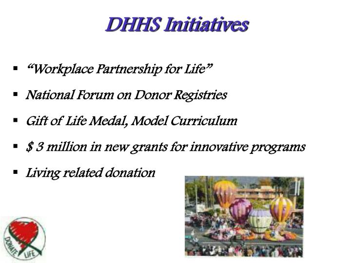 DHHS Initiatives