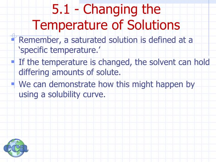 5.1 - Changing the Temperature of Solutions