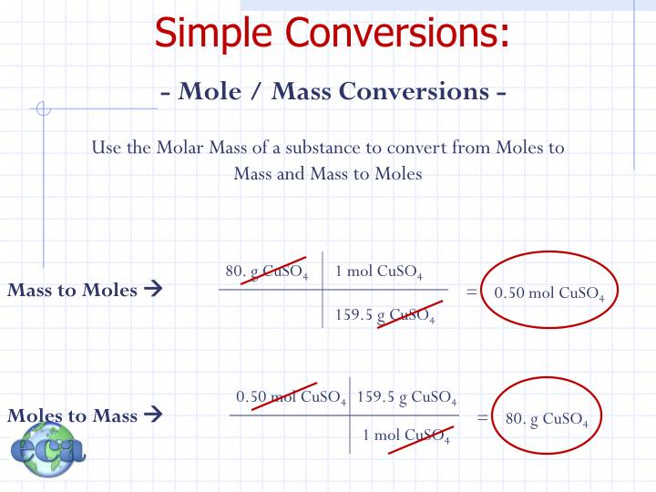 Simple Conversions: