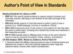 author s point of view in standards