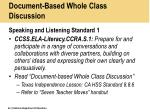 document based whole class discussion