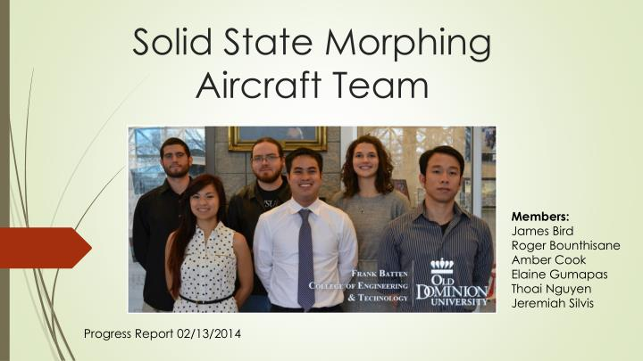 solid state morphing aircraft team n.