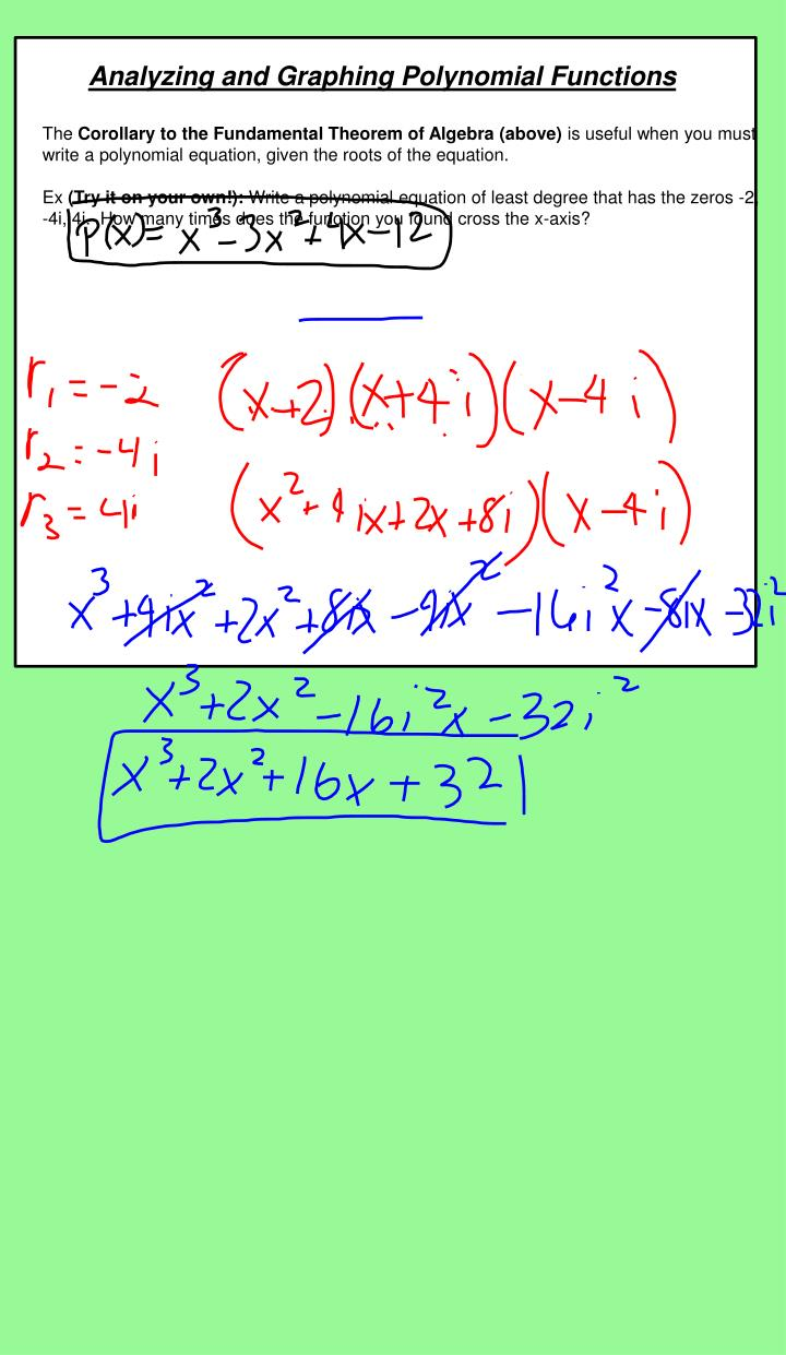 Analyzing and Graphing Polynomial Functions
