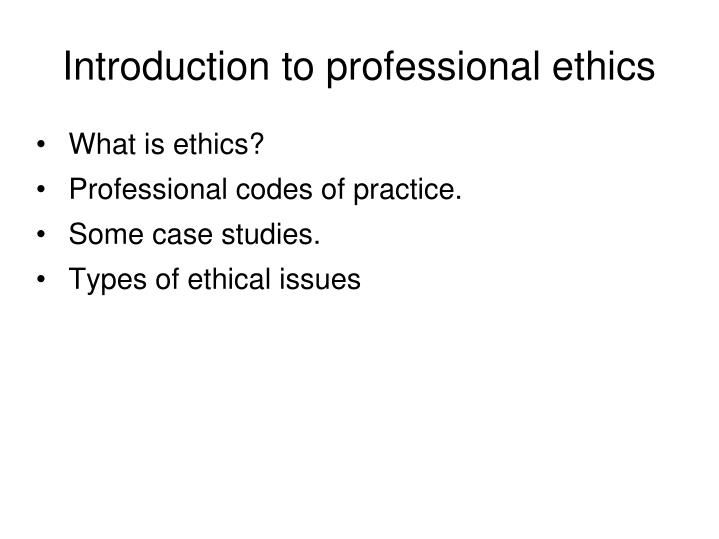 introduction to professional ethics n.