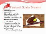 personal goals dreams