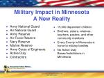 military impact in minnesota a new reality
