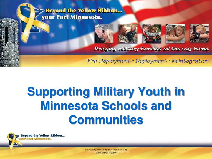supporting military youth in minnesota schools and communities