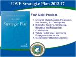 uwf strategic plan 2012 17
