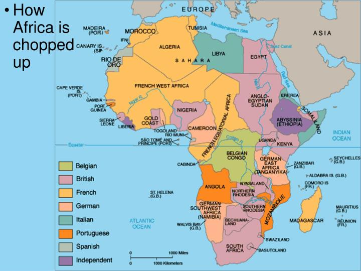 How Africa is chopped up