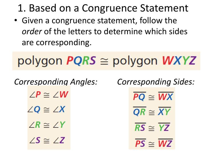 1. Based on a Congruence Statement