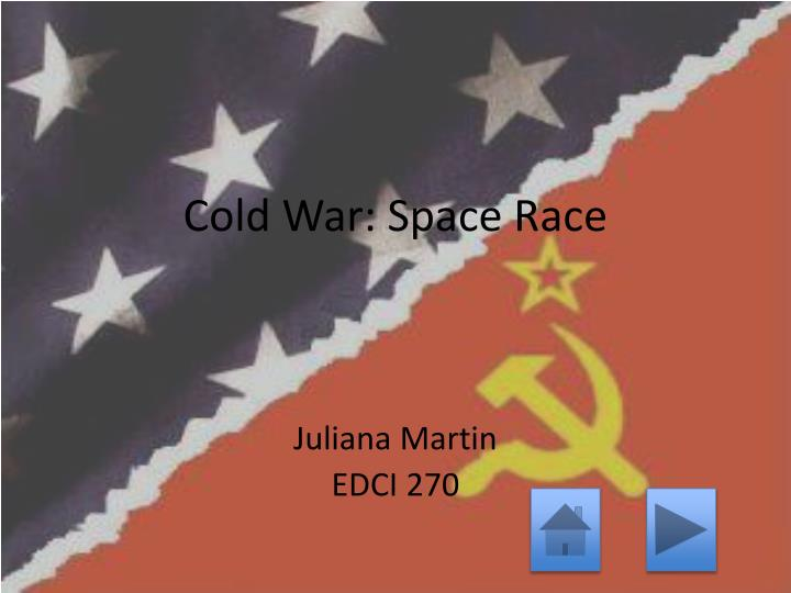 cold war space race n.