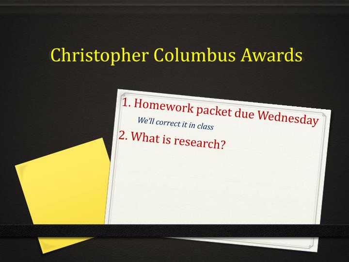 christopher columbus awards