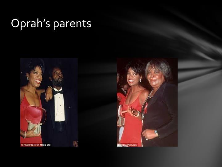 Oprah's parents