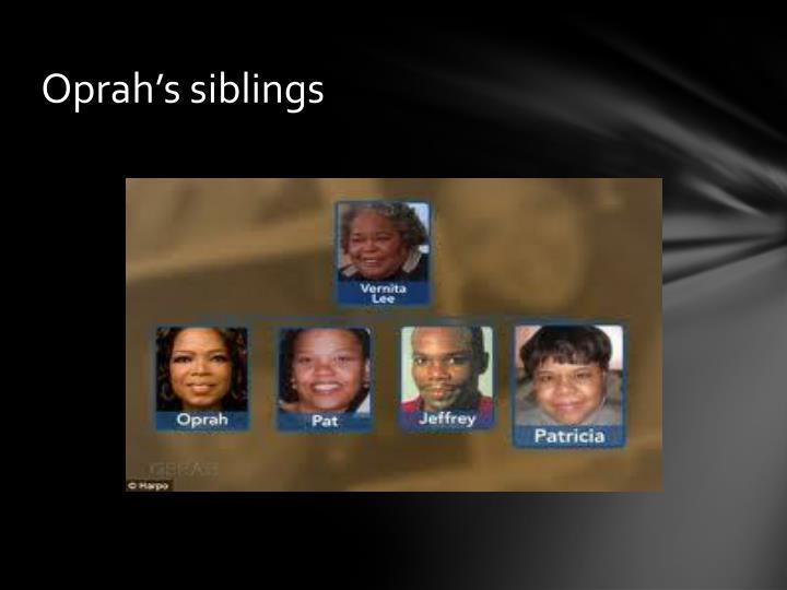 Oprah's siblings