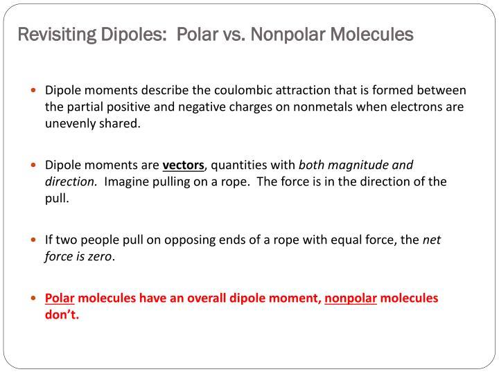 Revisiting Dipoles:  Polar vs. Nonpolar Molecules