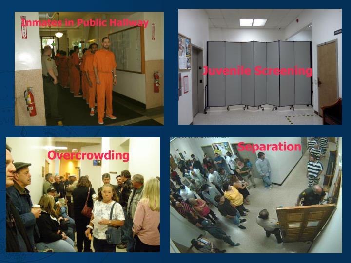 Inmates in Public Hallway