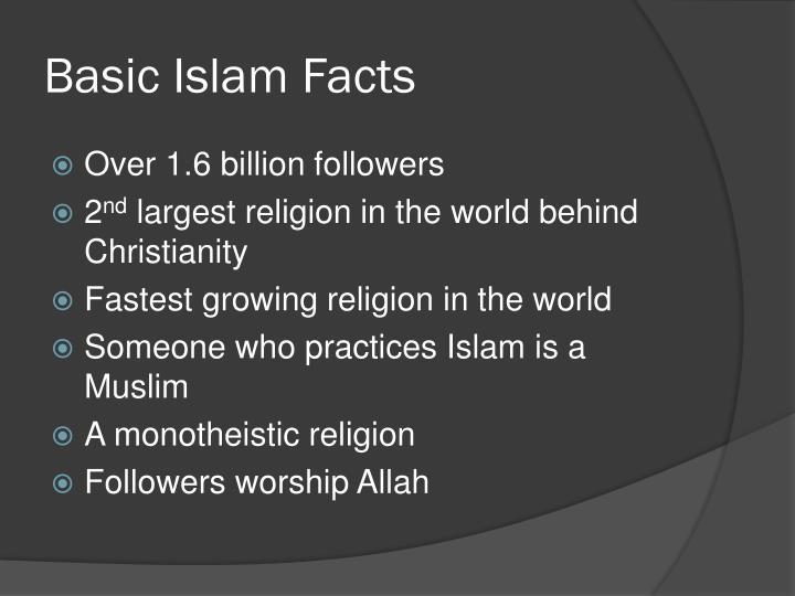 Basic islam facts