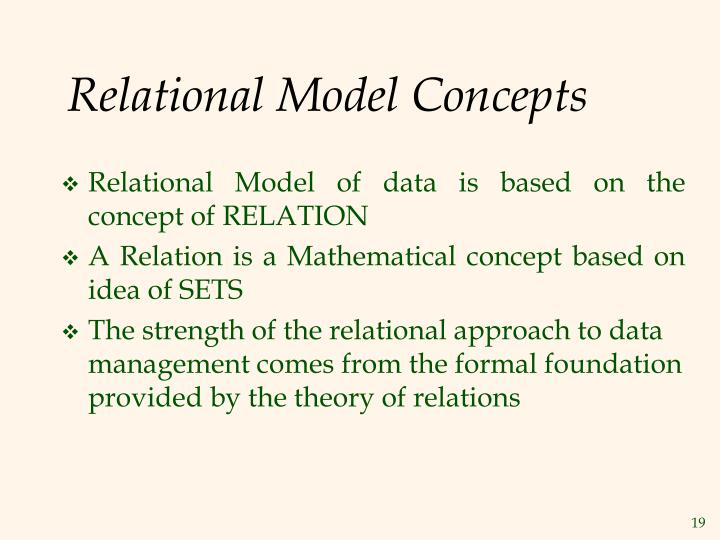 Relational Model Concepts