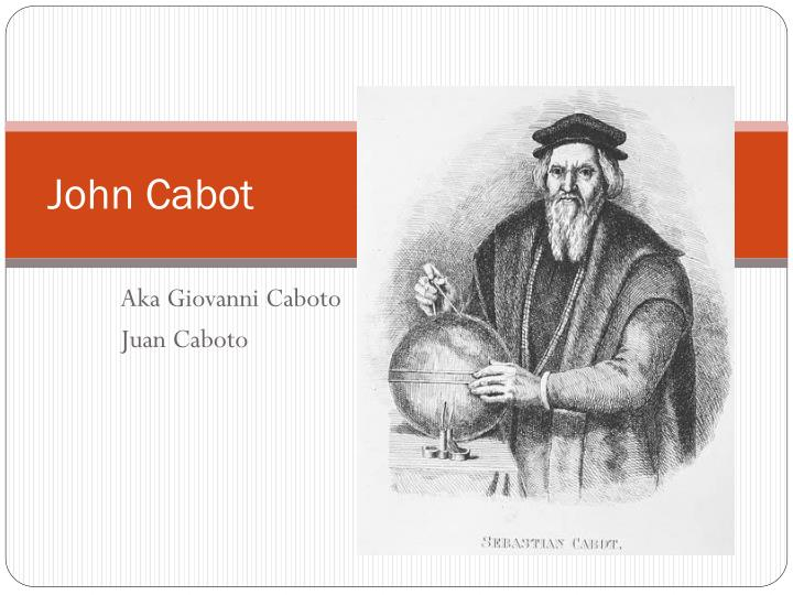 john cabot research item