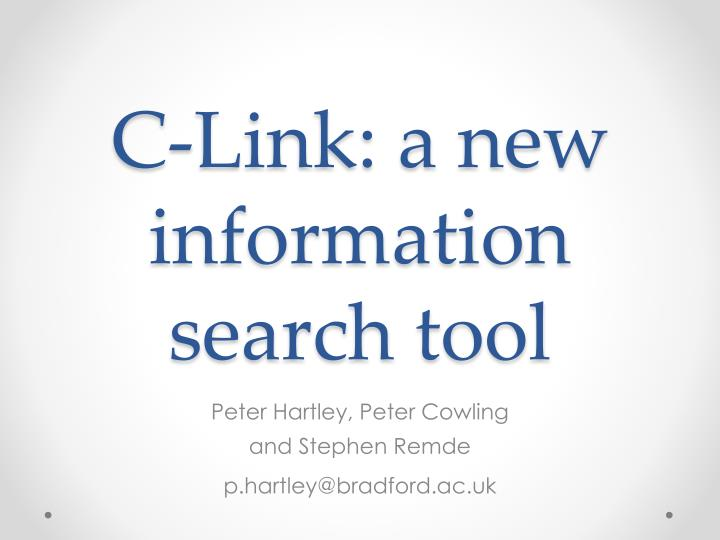 c link a new information search tool n.