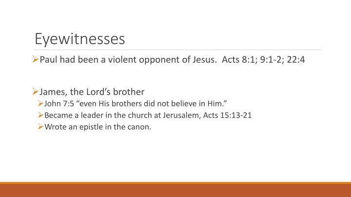 Eyewitnesses