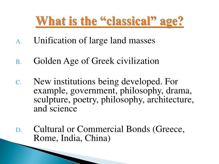 a comparison of classical greece and classical china The decline and fall of classical civilizations the classical civilizations of rome, china (han) and india (gupta) all fell to hun invaders, but.