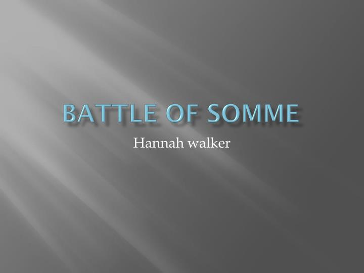 battle of somme n.