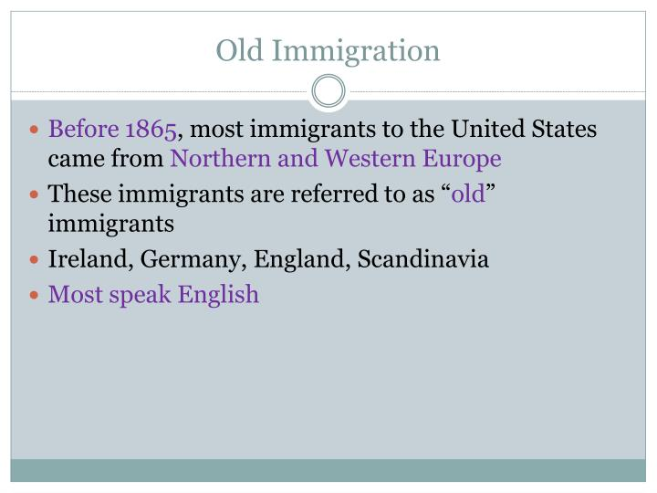 Old Immigration