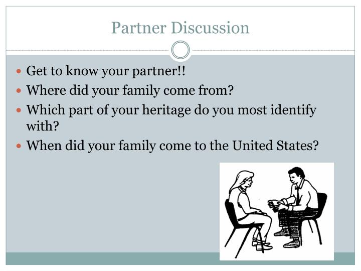 Partner Discussion