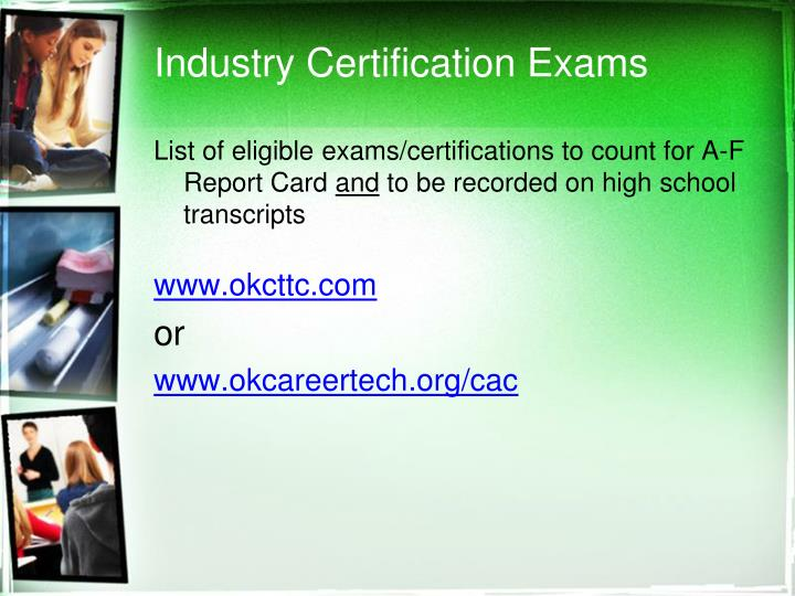 Industry Certification Exams