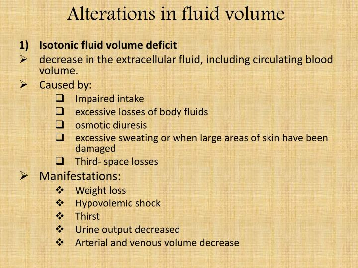 PPT Alterations In Fluid Volume PowerPoint Presentation ID 2845126