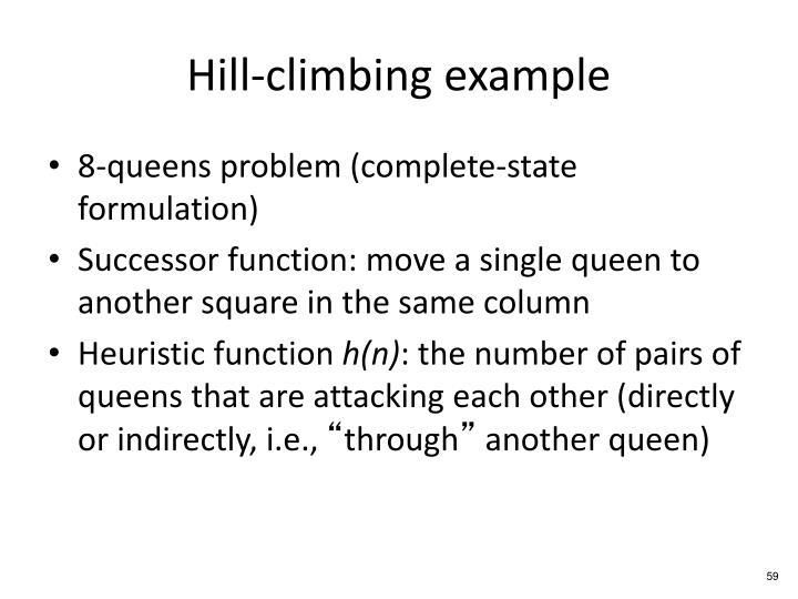 Hill-climbing example
