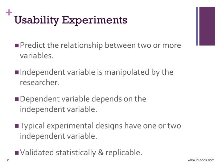 Usability experiments