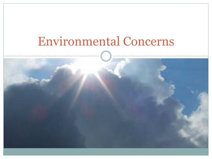 environment concern For earth day, here's how americans view environmental issues by monica anderson but fewer say they make an effort to live out that concern all the time.