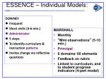 essence individual models