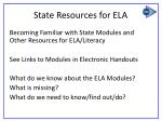 state resources for ela