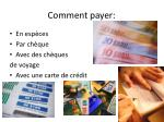 comment payer