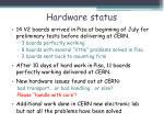 hardware status