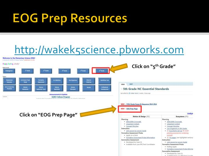 EOG Prep Resources