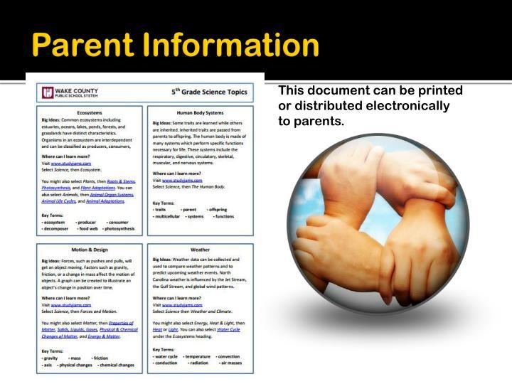 Parent Information